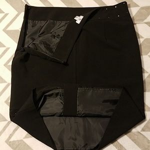 Worthington Skirts - New Worthington Black Studded Skirt Sz 14